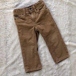 Boys Tommy Hilfiger tan camel corduroy pants, 2T